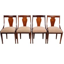Regency Empire Style Chairs, Set of 4
