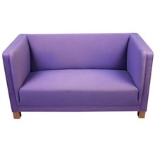 Vintage London Sofa Lavender Stripe