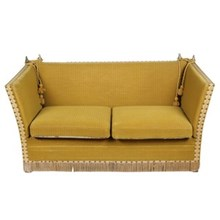 1960s English Knoll Sofa, Gold