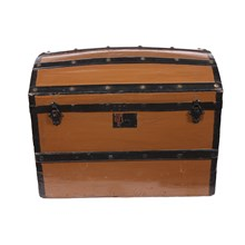 1870s Danish Rounded Top Trunk