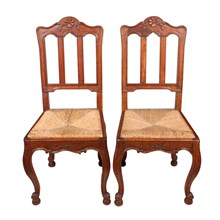 French Dining Chairs, Pair