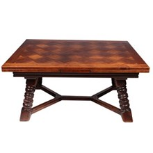 French Bavarian-Style Marquetry Table