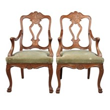 1920s Austrian Louis XV-Style Chairs,S/2
