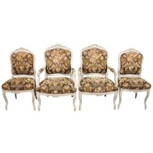 1930s Austrian Louis XV-Style Chairs S/4