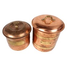 Copper Coffee & Tea Canisters