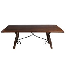 Renaissance-Style Trestle Dining Table