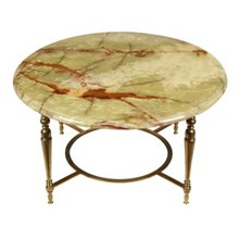 1960s Regency-Style Onyx Cocktail Table