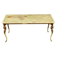 Greco-Roman-Style Onyx Cocktail Table
