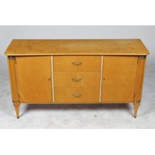 1930s Directoire Curly Maple Credenza