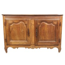 19th-C. Louis XV-Style Walnut Cabinet