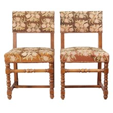 Baroque Needlepoint Chairs, Pair