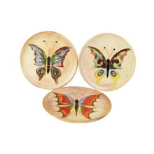 Mid-Century Butterfly Plates, S/3