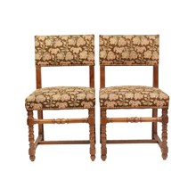 1940s French Needlepoint Side Chairs