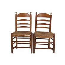 Country French-Style Ladder Back Chairs