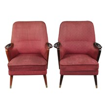1950s Danish Modern Armchairs, Pair