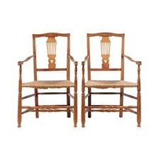 Antique Country Chippendale-Style Chairs