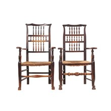 Antique Elizabethan-Style Spindle Chairs
