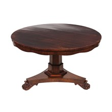 1840s Regency-Style Rosewood Table