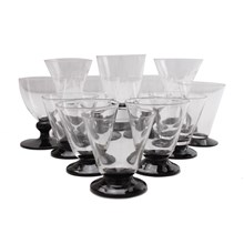 Black Foot Petite Stemware, Set of 12