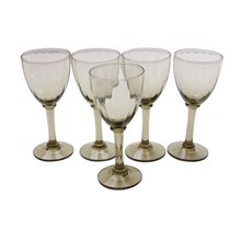 Mid-Century Port Wine Glasses, S/5