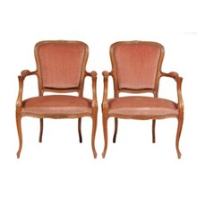 1950s Louis XV-Style Armchairs, Pair