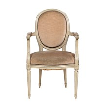 1930s Louis XVI Oval Back Arm Chair