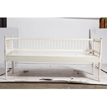 White Swedish Bench