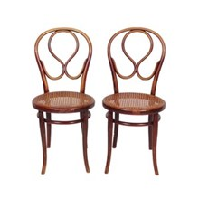 1920s Labeled Thonet Bentwood Chairs S/2