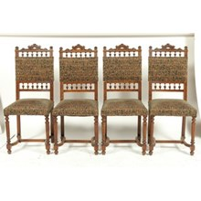 1880s French Henry II Dining Chairs, S/4
