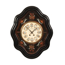 19th-C. French Napoleon III Wall Clock