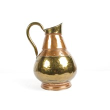 Antique Copper and Brass Water Pitcher