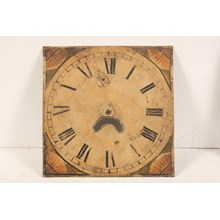 19th-C. Hand-Painted Clock Face