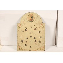 19th-C. Hand-Painted Freemasonry Clock Face