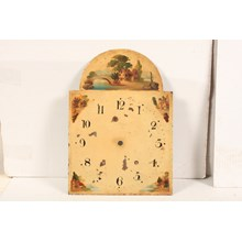 19th-C. Hand-Painted English Clock Face