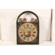 19th-C. Hand-Painted Nautical Dutch Clock Face