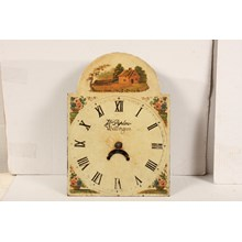 19th-C. English Hand-Painted Clock Face