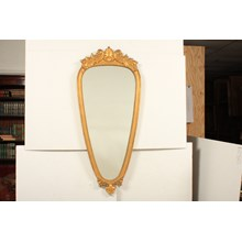 French Oblong Gold-Leaf Wooden Mirror