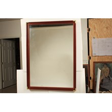 Empire-Style Wooden and Brass Rectangular Mirror