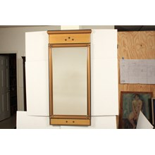 Mid-C. Rectangular Gold Toned Wall Mirror
