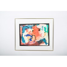 Late 20th-C. Colorful Abstract Lithograph