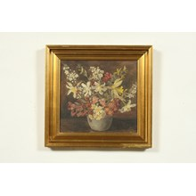 1939 Impressionist-style Oil Painting of a Floral Still Life by Tony Muller