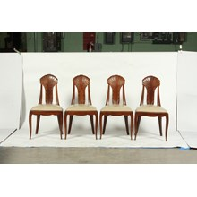 1930's French Art Deco Dining Chairs, S/4