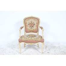 French Louis XV-Style Needle Point Chair