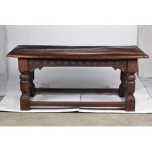 Antique French Oak Church Refectory Table 19th Century