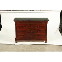 19th Century French Louis Philippe-Style Marble Top Commode/Chest