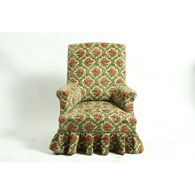 Antique French Edwardian Style Velvet Slipper Armchair, Ca 1910