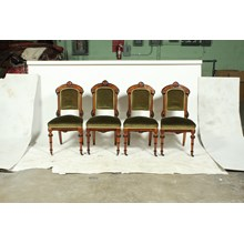 Set of Four French Victorian Renaissance Revival-Style Parlor Chairs