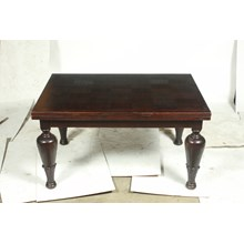 1940s Art Deco Ebony Stained Oak Expandable Dining Table That Seats 8-10