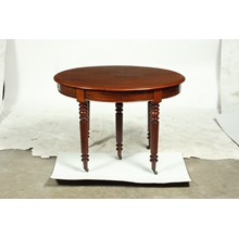19th-C. French Louis Philippe Mahogany Center Table