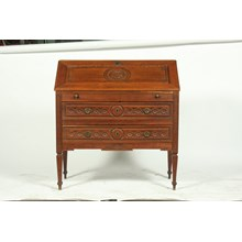 Antique Country French Louis XVI-Style Fall Front Secretary Desk